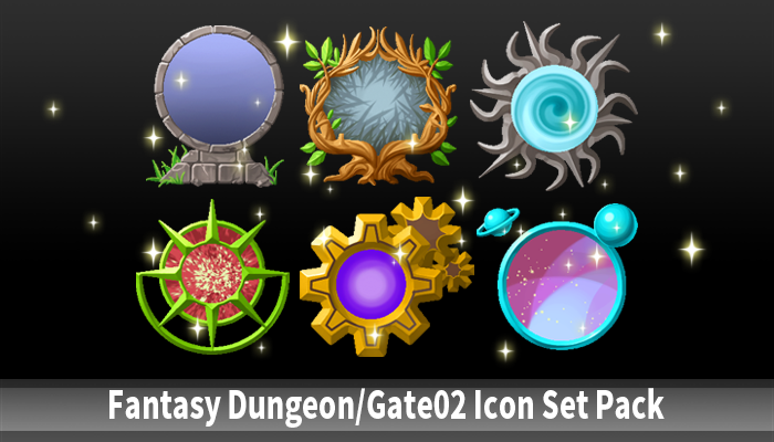 Fantasy Dungeon&Gate02 Icon Set Pack
