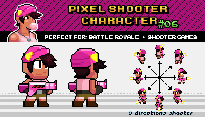 BATTLE ROYALE / SHOOTER PIXEL CHARACTER Nº 06