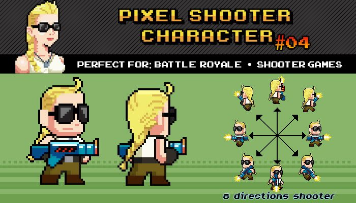 Battle Royale / Shooter Pixel Character Nº 04