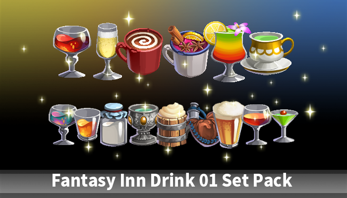 Fantasy inn drink 01 Pack