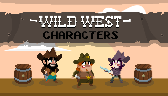 WILD WEST CHARACTERS