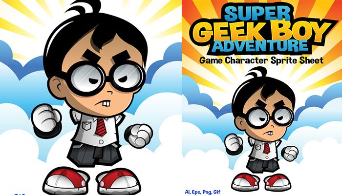 Geek Boy Adventure Character