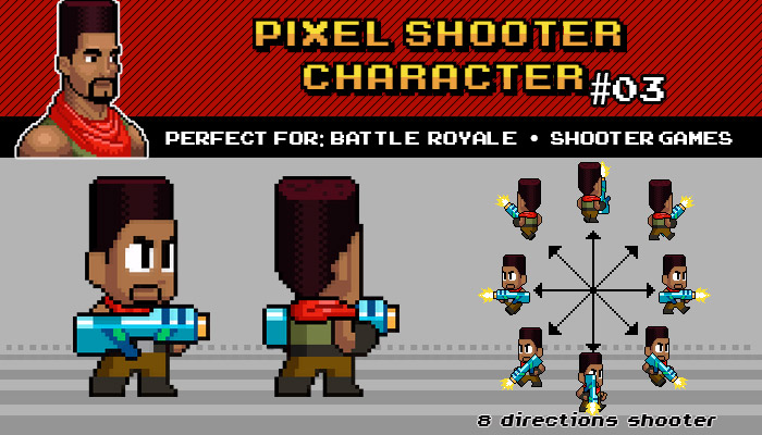BATTLE ROYALE / SHOOTER PIXEL CHARACTER Nº 03
