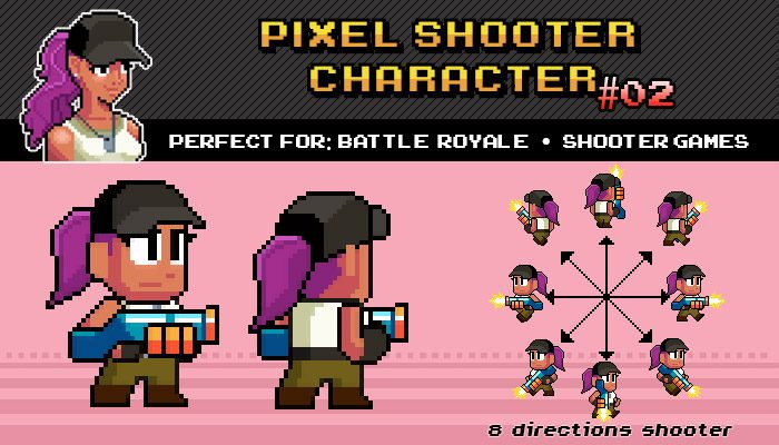 Battle Royalle / Shooter Pixel Character Nº 02