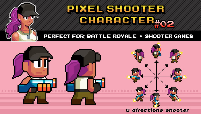 BATTLE ROYALE / SHOOTER PIXEL CHARACTER Nº 02