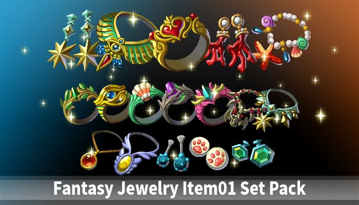 Fantasy Jewelry Item01 Set Pack