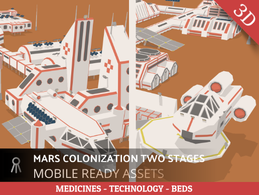 MARS COLONIZATION TWO STAGES