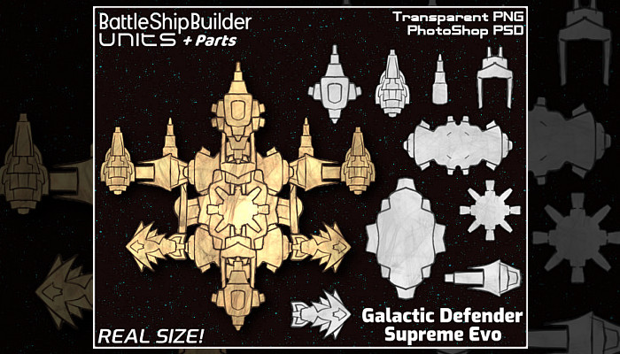 Galactic Defender Supreme Evo (BattleShipBuilder Unit)