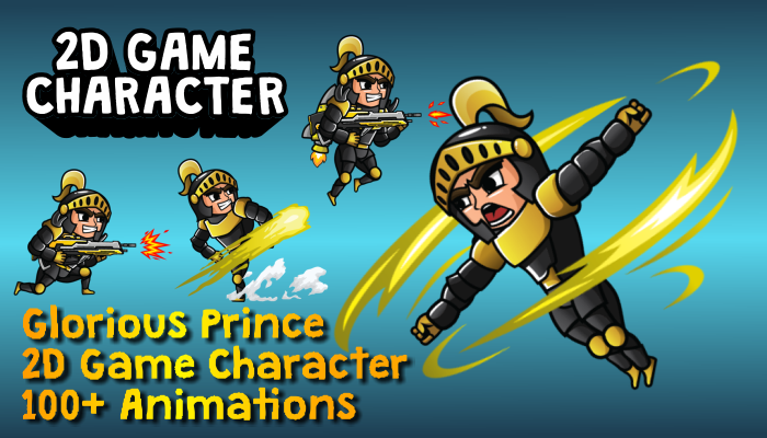 Glorious Prince 2D Game Character Sprite