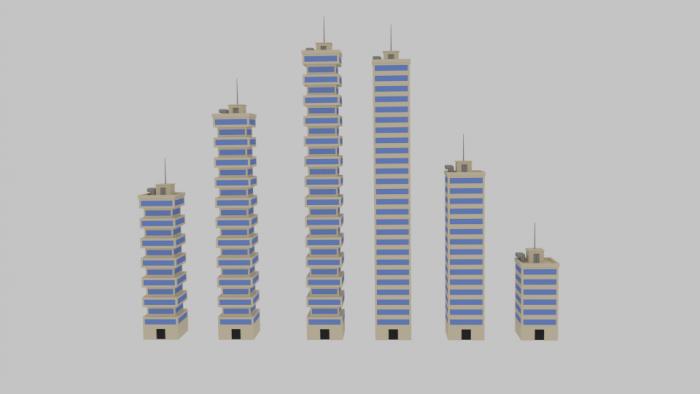Toon Skyscrapers Pack 2