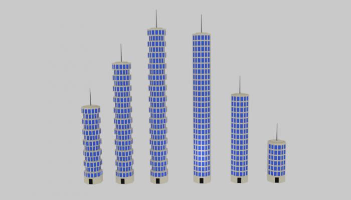 Toon Skyscrapers Pack 1