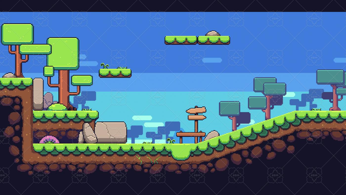 Nature Pixel Art Base Assets Free Gamedev Market