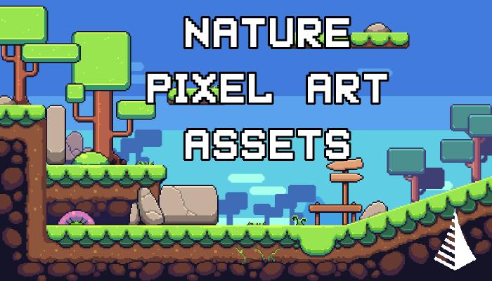 Nature pixel art base assets