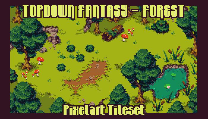 Topdown Fantasy – Forest – Pixelart Tileset