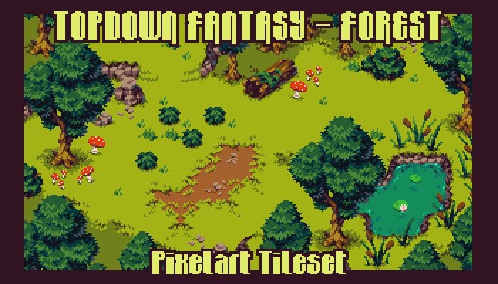 Topdown Fantasy – Forest – Pixelart Tileset