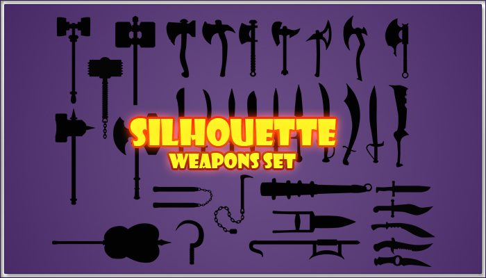 Silhouettes Weapons Set