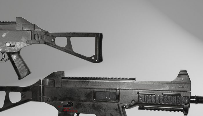 UMP 45 -Low Poly Modern Submachine Gun