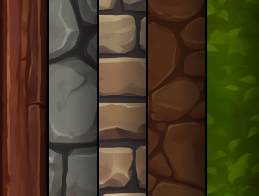 Hand Painted Textures Set