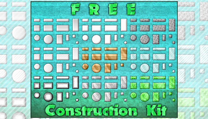 FREE Construction Pack (+layered PSD included)