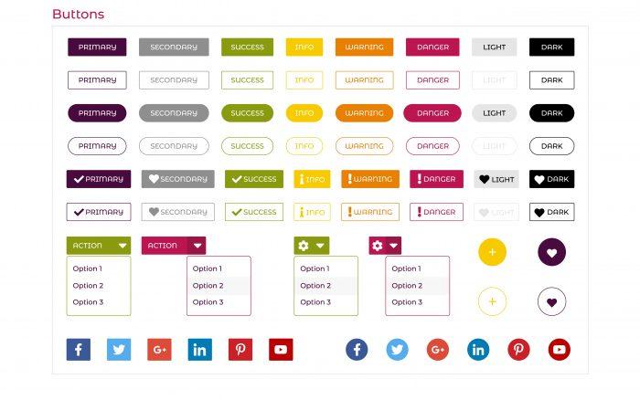 UI buttons set