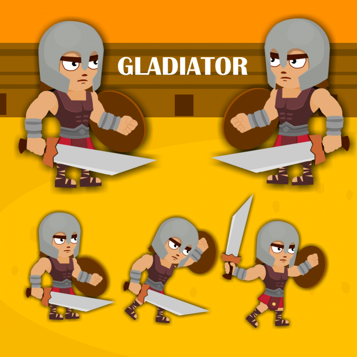 Gladiator character (Ready to Animate Flash file & ai file )