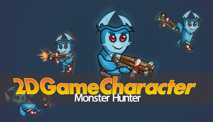 2D Character – Monster Hunter
