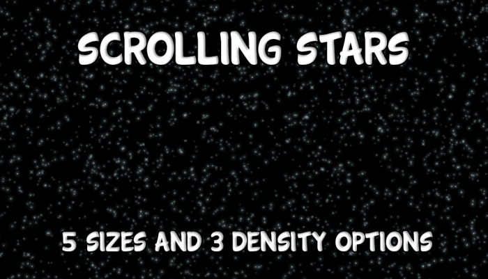 Scrolling Star Backgrounds