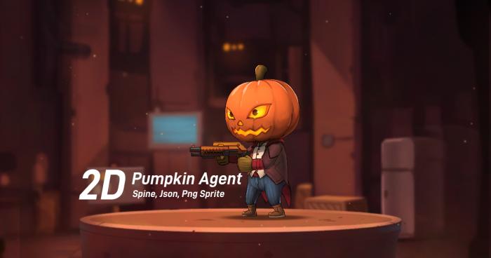 Chibi Pumpkin Agent (Spine)