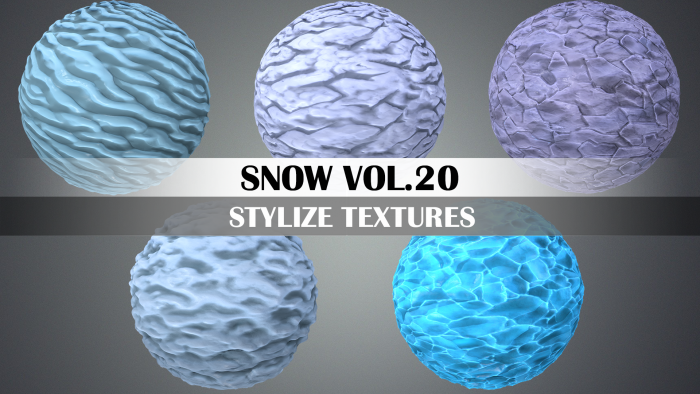 Stylized Snow Vol.20 – Hand Painted Texture Pack