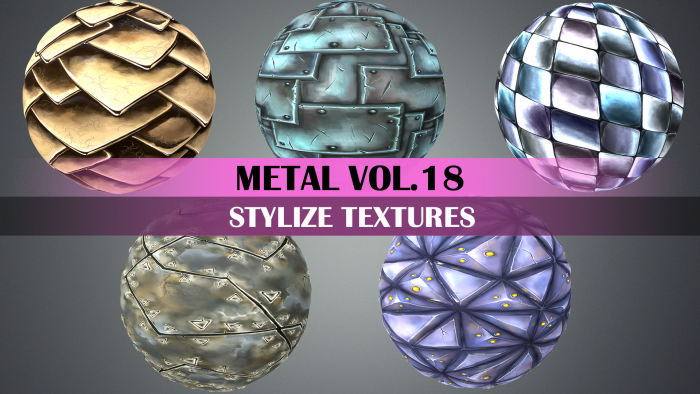 Stylized Metal Vol.18 – Hand Painted Texture Pack