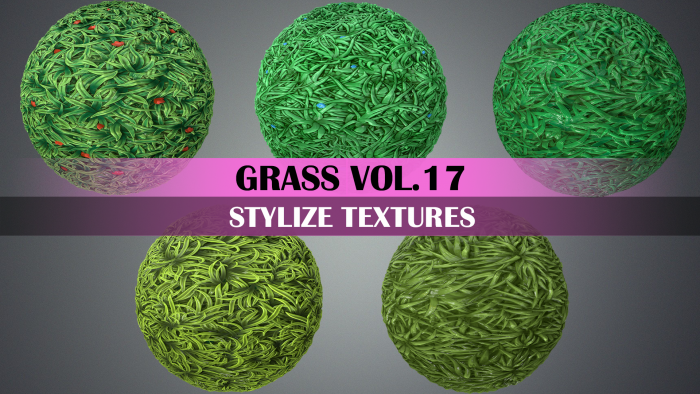 Stylized Grass Vol.17 – Hand Painted Texture Pack