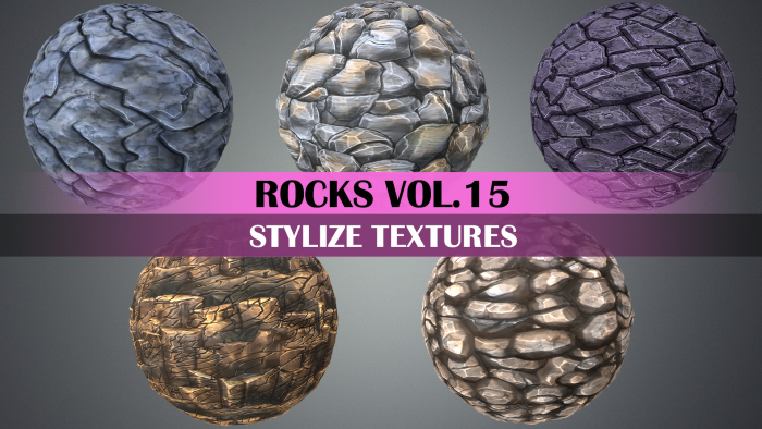 Stylized Rocks Vol.15 – Hand Painted Texture Pack
