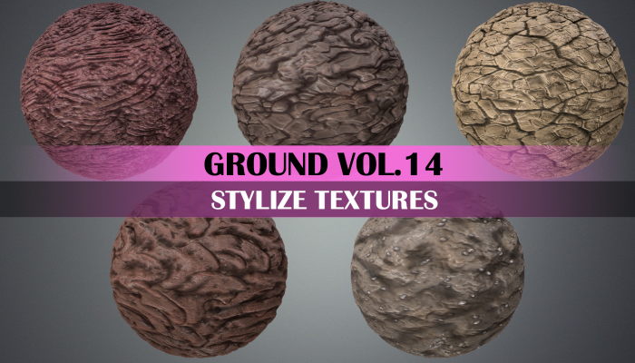 Stylized Ground Vol.14 – Hand Painted Texture Pack