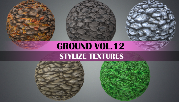 Stylized Ground Mix Vol.12 – Hand Painted Texture Pack