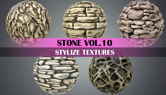 Stylized Stone Vol.10 – Hand Painted Texture Pack