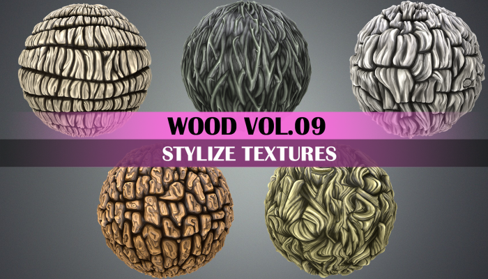 Stylized Wood Vol.09 – Hand Painted Texture Pack