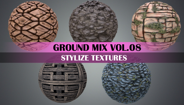 Stylized Ground Vol.08 – Hand Painted Texture Pack