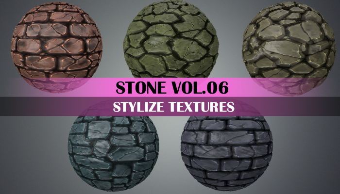 Stylized Stone Tile Vol.06 – Hand Painted Texture Pack