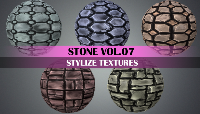 Stylized Stone Vol.07 – Hand Painted Texture
