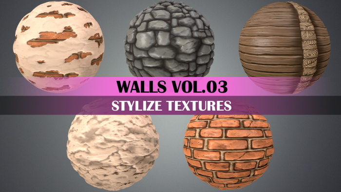 Stylized Wood Vol.03 – Hand Painted Textures