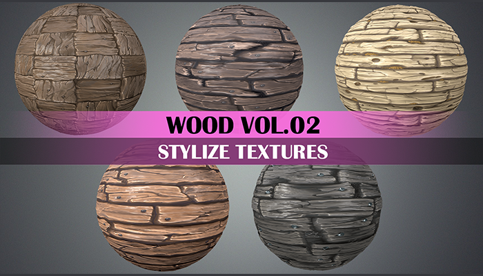 Stylized Wood Vol.02 – Hand Painted Texture Pack