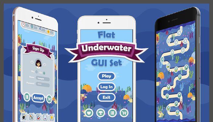 Flat Underwater GUI Set