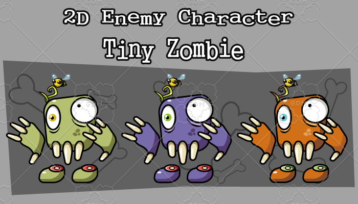 2D Enemy Character – Tiny Zombie