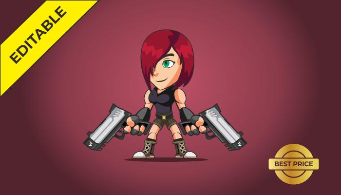 2D Character – Shooter Girl