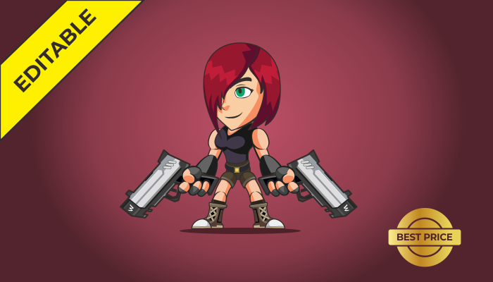 2D Character – Shooter Girl