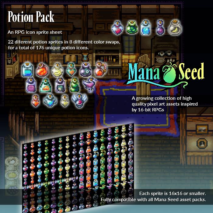 Potion Pack – Pixel Art Asset
