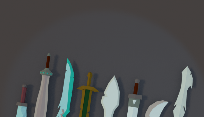 Low Poly Fantasy Swords