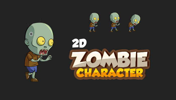 2D Sprite Character: Walking Zombie