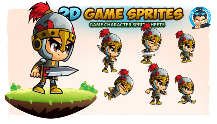 KnightRock 2D Game Character Sprites