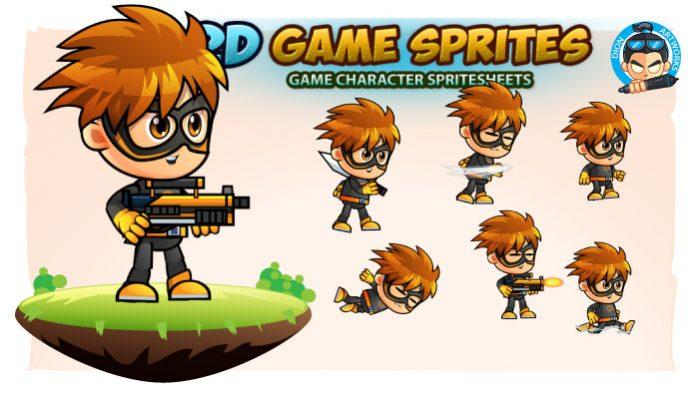 SuperBam 2D Game Sprites